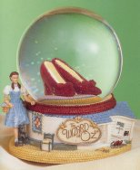 Wizard of Oz Dorothys Ruby Slippers in Musical Water Globe