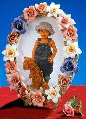 ceramic flowers photo frame