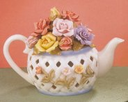 Porcelain Teapot of Flowers