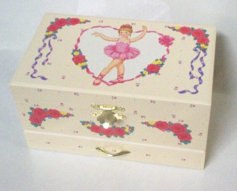 Childs  musical Jewelry box with twirling ballerina
