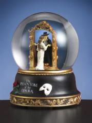 Phantom and Christine Mirror Scene Water Globe