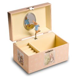 Childs Musical Jewelry box with Peter Rabbit