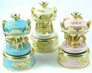 Minj Musical Baby Carousels in Pink, White and Blue