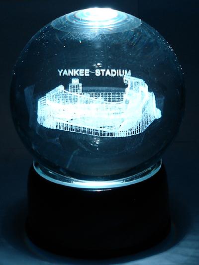 Globes - Laser Etched Stadiums - Baseball/Football