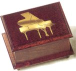 Wood and Brass Applique of Piano (1.18)