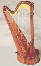Musical Harp with Fine Italian Inlay