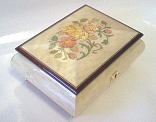 Rose inlay,  Music Boxes