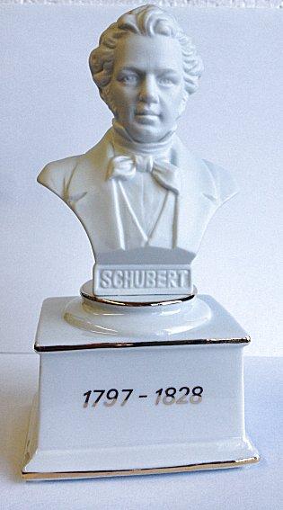 Composer Busts -  Small Musical Porcelain Schubert