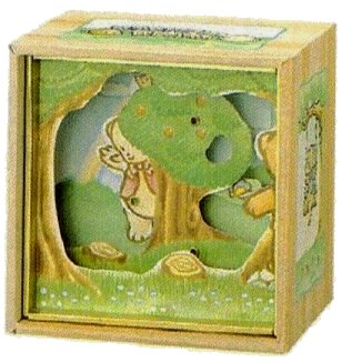 Animated Bashful Bears Playing Hide and Seek musical shadow box