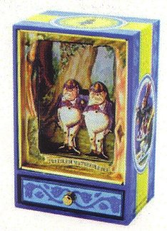 Alice in Wonderland - Tweedle Dum and Tweedle Dee  Animated Medium Musical Shadow Box