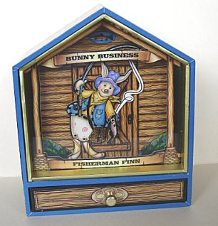Zany Animated Bunny Business Fisherman Finn