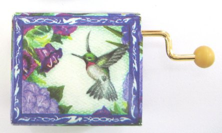 Hand Crank Music Box Hummingbird