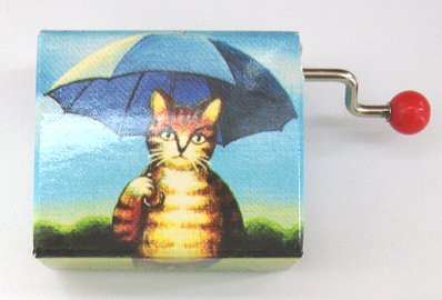 Hand Crank Music Box Cat