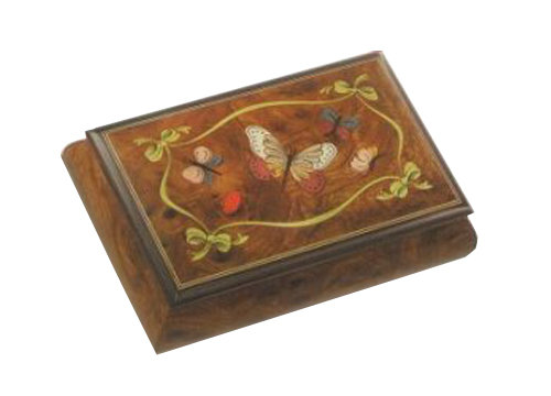 Butterflies and Lady Bugs Italian Inlay on Elm Box