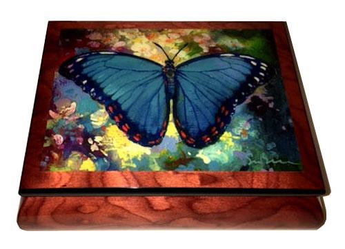 Butterfly Music Box - Blue Morpho by Simon Bull