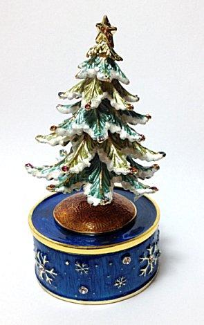 Gorgeous Mini Musical Enamelled Christmas Tree