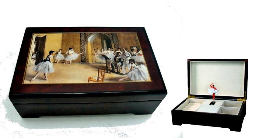 Degas Decoupage on Twirling Ballerina Music Box