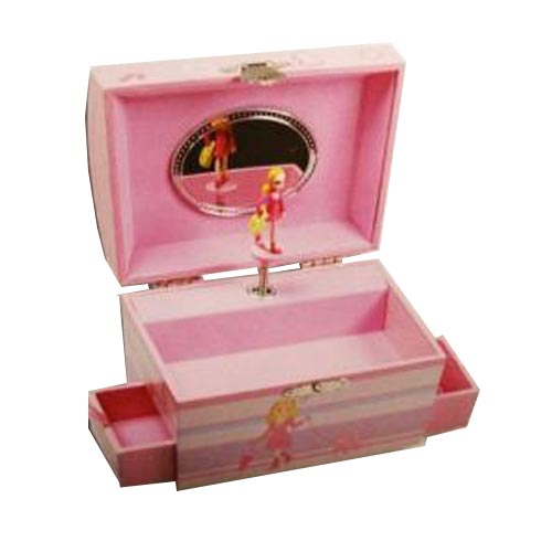 Carry Case Jewelry Box with Twirling Little Girl