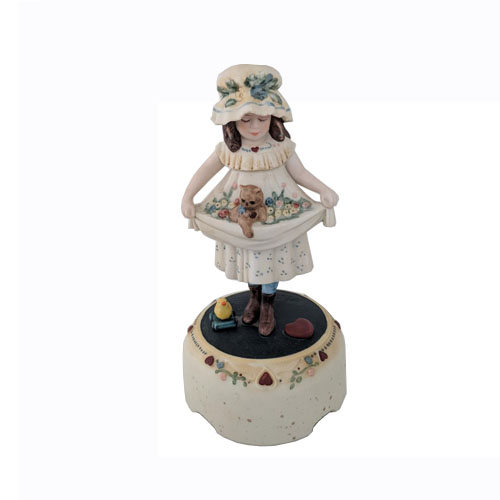 Porcelain Girl with Cat Figurine by Jan Hagara