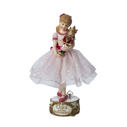 Clara with Nutcracker Musical Figurine