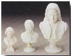 Composer Bust Large Medium Small