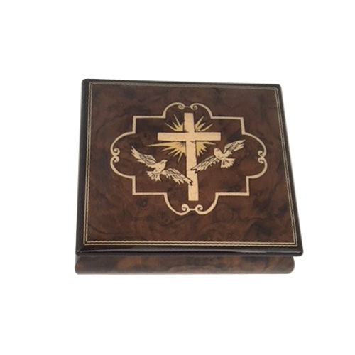 Religious Music Box with Cross