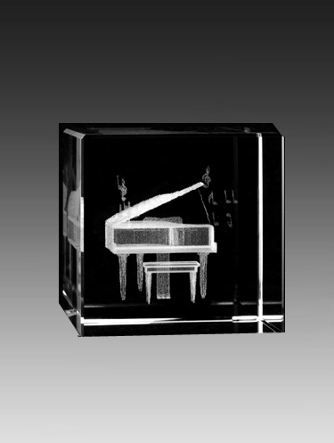 Crystal Piano Cube by Asfour