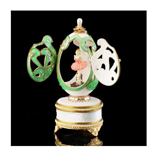 Musical Ornate Dance Ballerina Dance Goose Egg