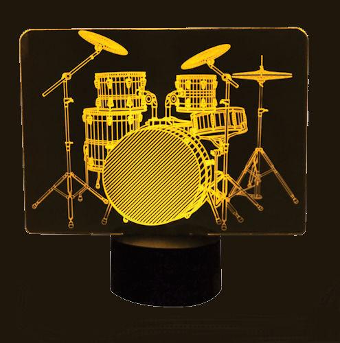 Acrylic Drum Set LED Lamp