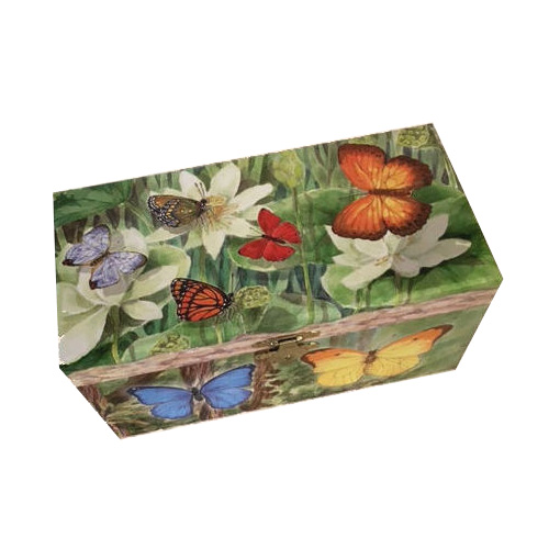 jewelry box with rotating butterfly by Enchantments Enchantmints Musical Jewelry Box with Butterfies and Flowers Enchantmints Butterfly