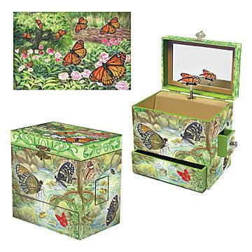 Enchantmints Monarch Butterfly Music Box