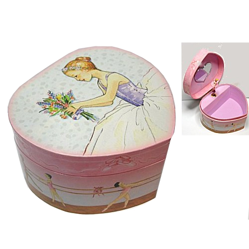 Enchantmints Musical Treasure Box for the Ballet Student (Heart Shaped)