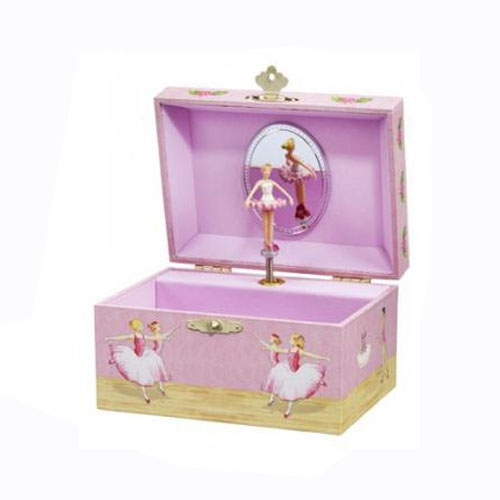 Small Twirling Ballerina Musical Jewelry Box by Enchantments