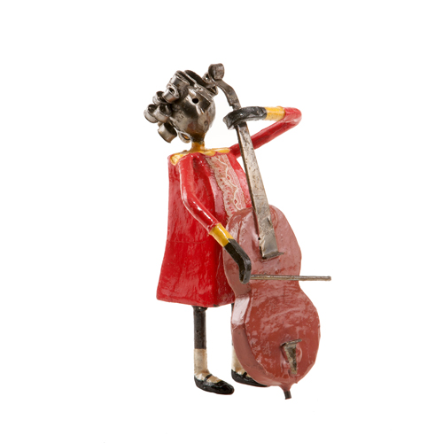 Felguerez Sculpture Bassist Girl