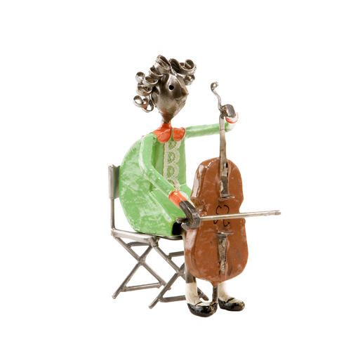 Felguerez Sculpture Cellist Girl