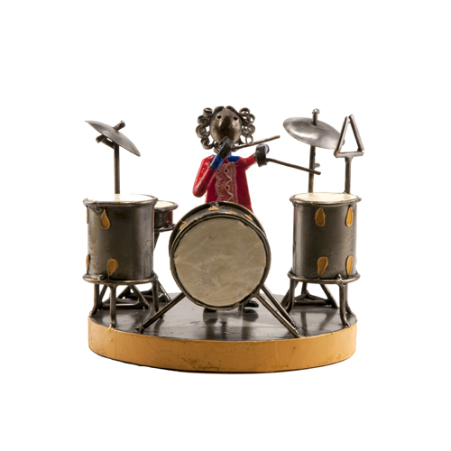 Felguerez Sculpture Drummer Girl