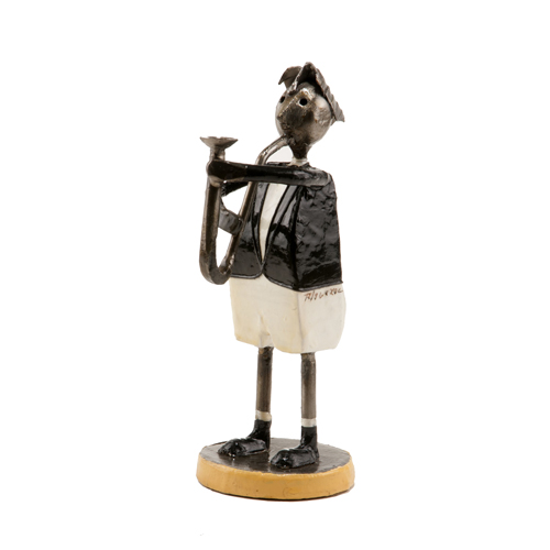 Felguerez Sculpture Saxophonist Boy