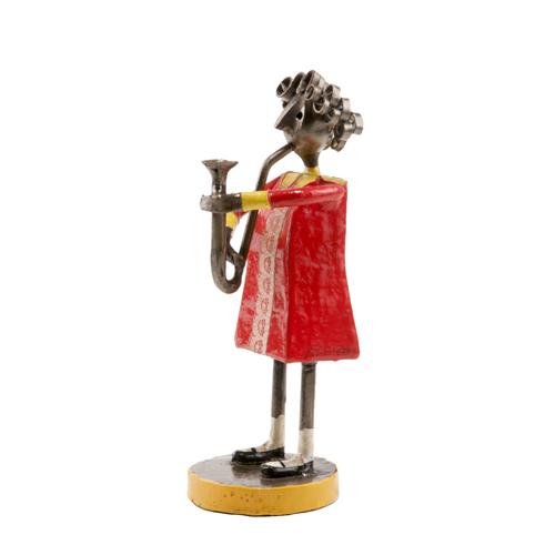 Felguerez Sculpture Saxophonist Girl