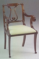 Lyre Dining Chair with Arm