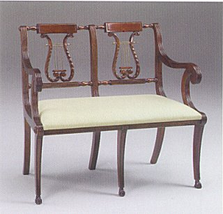 Lyre Loveseat