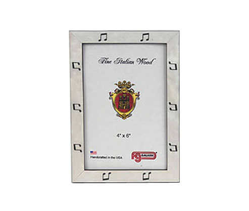 Frame White Finish with Black Notes by FG Galassi