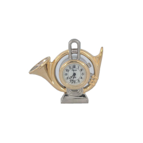 Miniature French Horn Clock