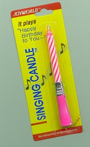 Musical Candles Happy Birthday
