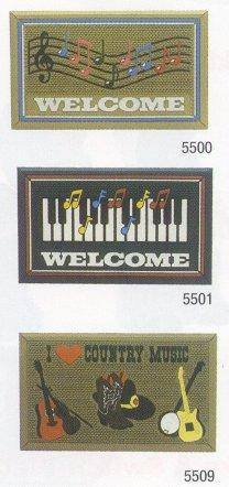 Welcome Door Mat - 3 Musical Designs