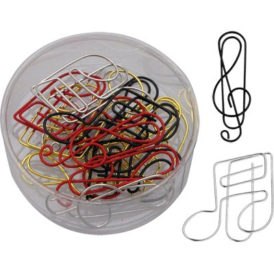 Paper Clips with a Musical Theme