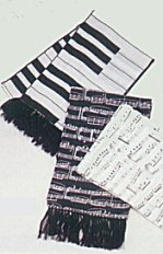 Silk Scarf Piano keyboard or notes design