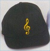 Baseball Caps - G Clef (black)