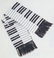 Warm winter scarf with keyboard design