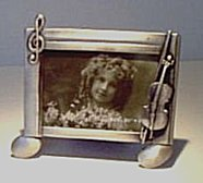 Photo Frame in Pewter with Cello - small