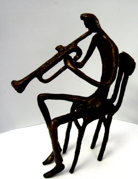 Bronze Trumpet Player (seated)